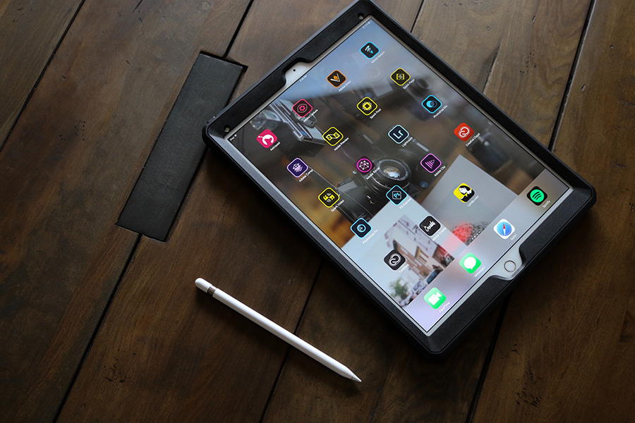 Tablet loaded with Adobe programs
