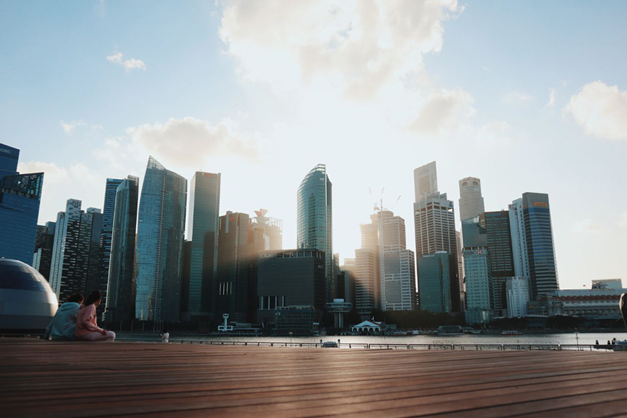 Shot of the Singapore skyline with the Canon EOS Mark II M6 by Clarissa