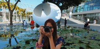 Clarissa with the Canon EOS M6 Mark II at Art Science Museum