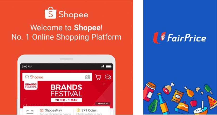 Shopee and NTUC from Huawei AppGallery