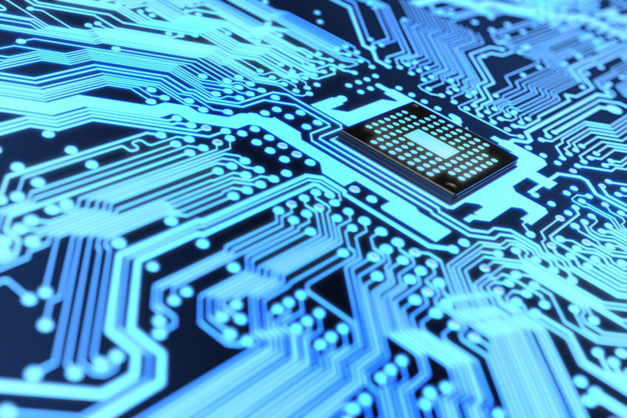 Very high resolution rendering of an electronic circuit