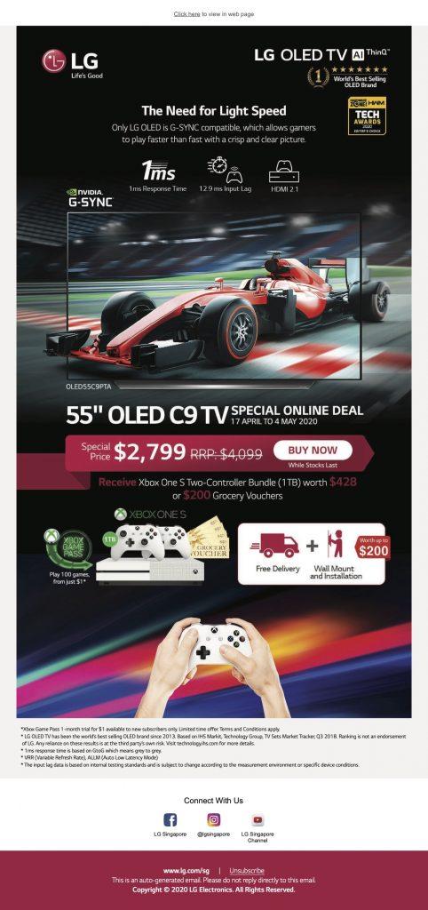 LG OLED C9 Xbox One S Promotion