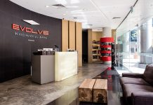 Evolve MMA gym lobby