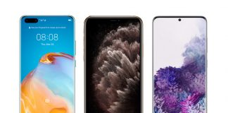 Huawei P40 Pro, Samsung Galaxy S20+, iPhone 11 Pro