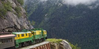 The White Pass and Yukon Route is a Canadian and U.S. Class II 3 ft narrow gauge railroad linking the port of Skagway, Alaska, with Whitehorse, the capital of Yukon. An isolated system, it has no direct connection to any other railroad.