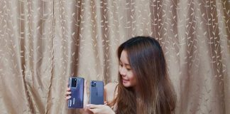 Clarissa with the Huawei P40 Pro and Apple iPhone 11