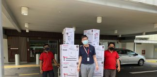 Sharp Air Purifier with Plasmacluster Technology donated to Ng Teng Font General Hospital