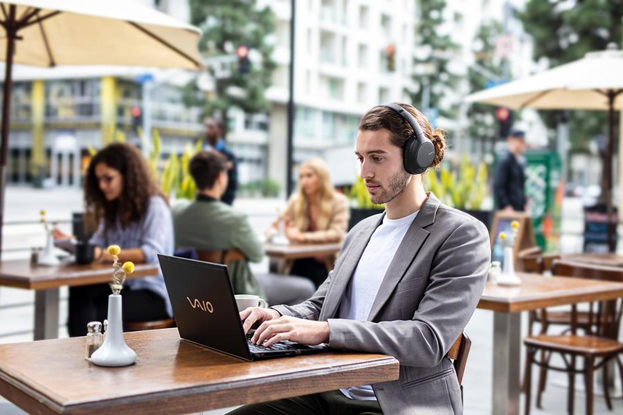 Man using Sony WH-CH710N