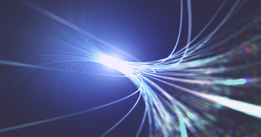 Fibre optics, illustration.