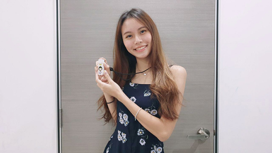 Clarissa with Travelmall Justice League Ioniser