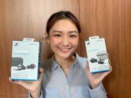 Han Yun with the Sennheiser Momentum In-Ear True Wireless 2 Headphones