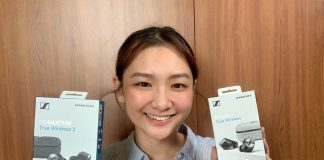 Han Yun with the Sennheiser Momentum In-Ear True Wireless 2 Headphones