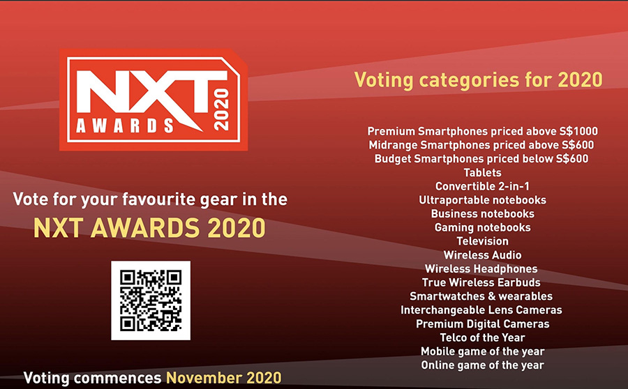 NXT September 2020 issue awards ad