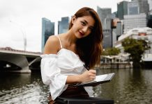 Vanessa with the Lenovo ThinkBook Plus